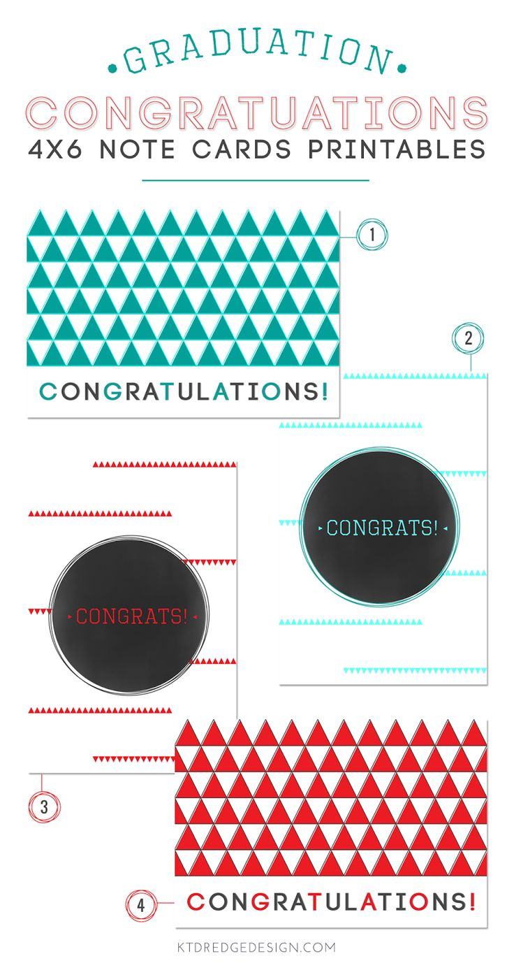 congratulation note cards, free printables