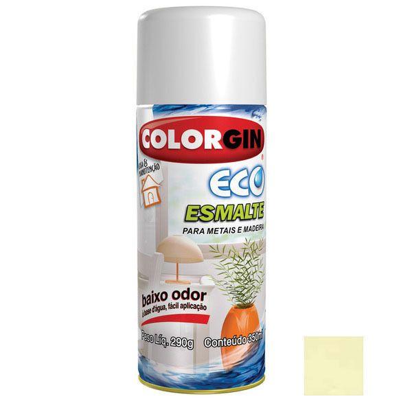 Tinta Spray Eco Esmalte Colorgin Acetinada Amarelo Tigre 350ml