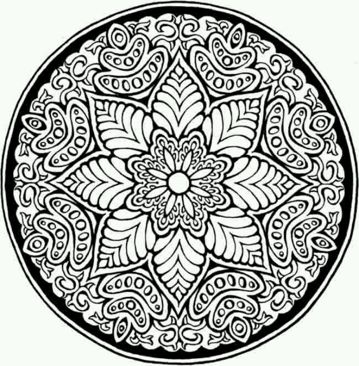 mosaic pattern pattern coloring pagesflower - Design Pictures To Color