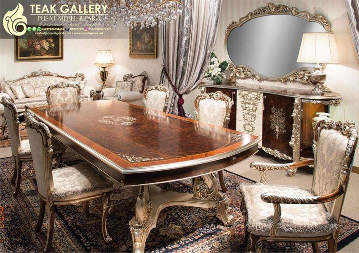Set Meja Makan Mewah Luxury Royal