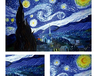 "Check out new work on my @Behance portfolio: ""Replica, (noche estrellada VIncent Van gogh)"" http://be.net/gallery/50598497/Replica-(noche-estrellada-VIncent-Van-gogh)"