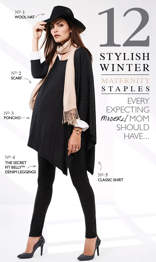 12 Stylish Winter Maternity Staples
