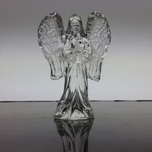 Hot Praying Guardian Standing Angel Crystal Figurines For Christening Baptism Party Favors