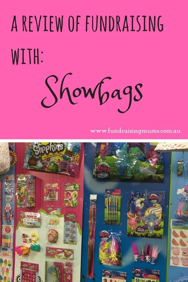 Turn your next event into the Royal Show by fundraising with Showbags (review)