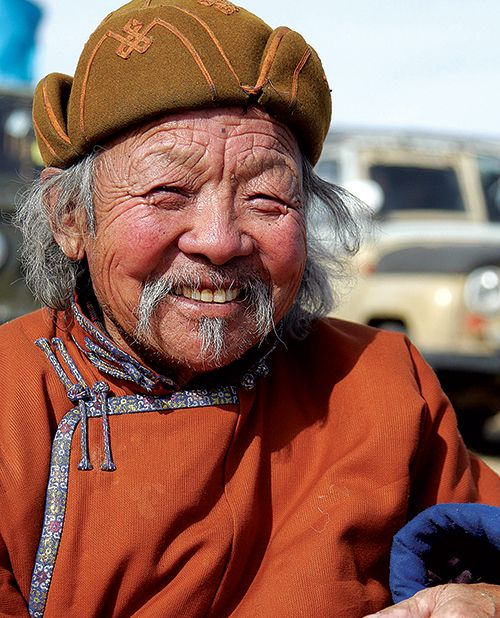 a nomad in Mongolia