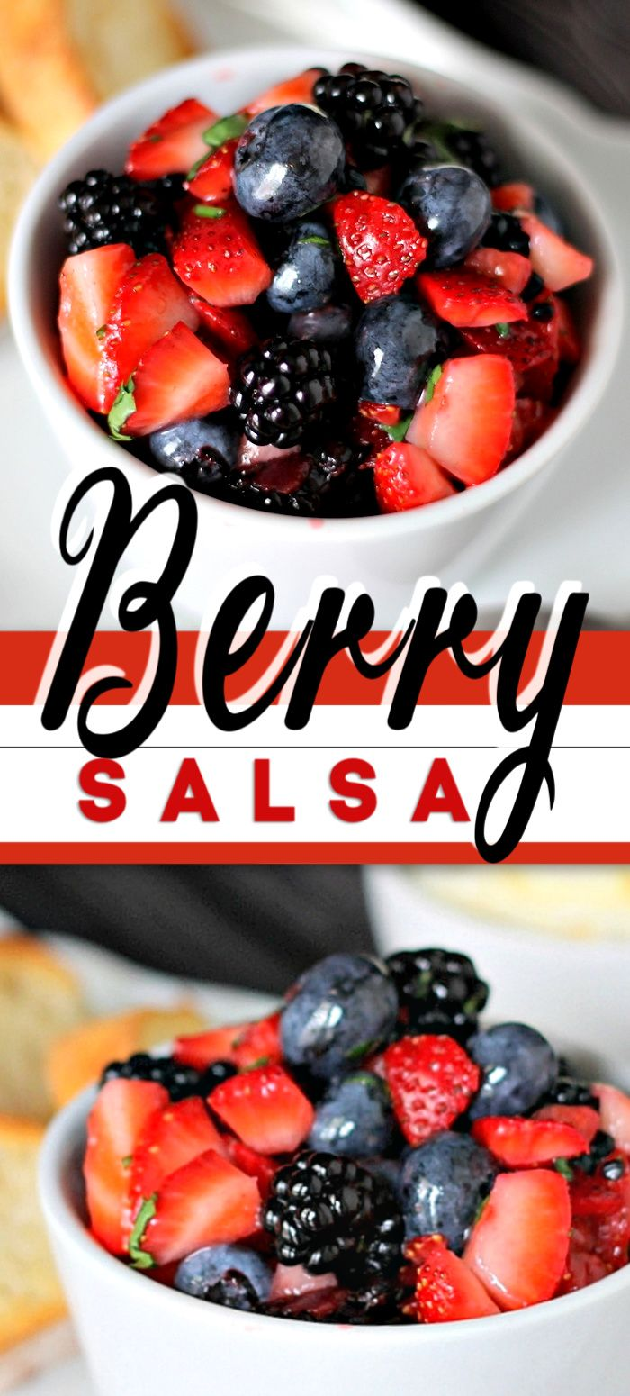Jun 27, 2020 – This Summer BERRY SALSA recipe is simple to make. It's a fun appetizer, snack or dessert option. Serve on…