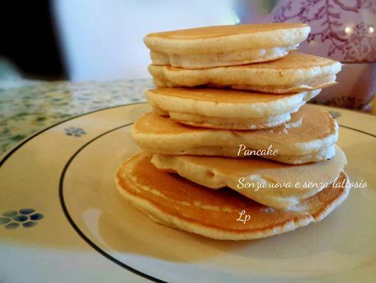 Pancake, senza uova e senza lattosio   La mimosa rosa
