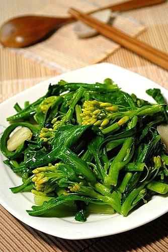 """""""炒""""青菜,菜花/菜心 cai hua/ cai xin"""