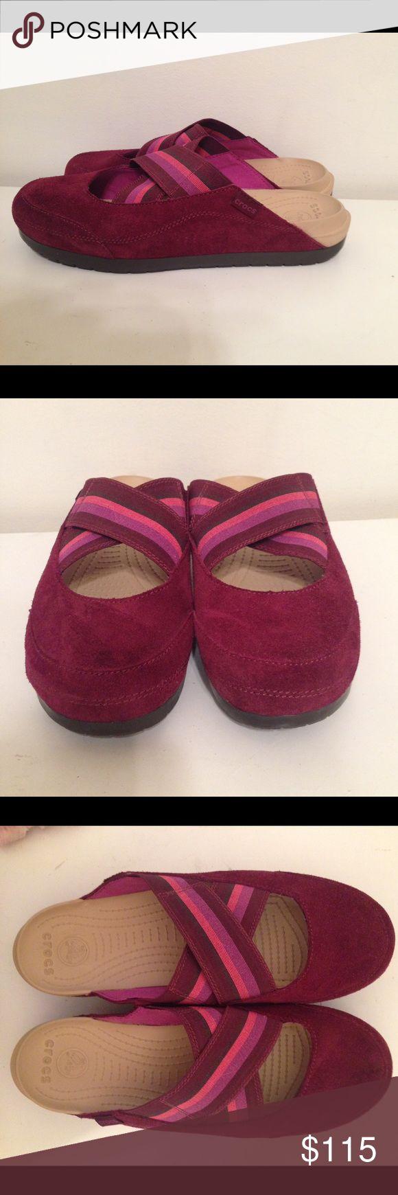 NEW RARE Crocs Edie Mule Shoes NEW RARE Crocs Edie Mule Ballet Flat burgundy/viola Size 11 crocs Shoes Mules & Clogs