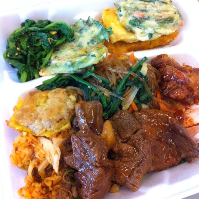 Korean buffet pickings.
