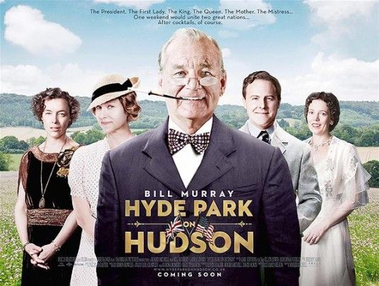 "So they didn't change Samuel West (playing King George VI the one famous for ""The King's Speech"") into a Colin Firth look-alike in the newest poster for Hyde Park on Hudson.   Still, this cast poster for this Brit-American clash of cultures drama tells a lot more than it shows.   Start exploring the levels with Bill Murray and Laura Linney's sly smile."