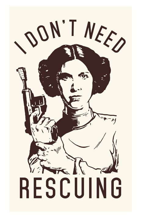 I dont need rescuing - Princess Leia (Star Wars) One of the galaxy's greatest heroes. Princess Leia captured forever in an iconic and classic shot. An original high quality graphic poster print on premium card stock - Size is 11 x 17 inches. Let this iconic piece of movie history / memorabilia / nostalgia serve as a daily reminder to be rebellious and live life your way. The perfect gift for any loved one, strong woman, Star Wars enthusiast, or artist in your life! *Frame not included* P...