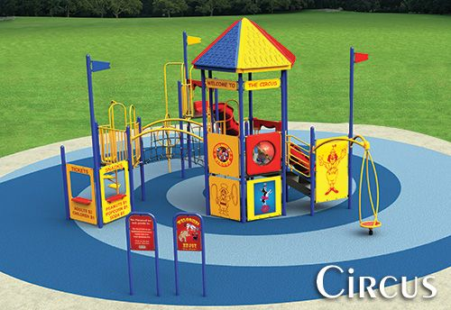 Custom circus theme playground design playground for Design your own playground online