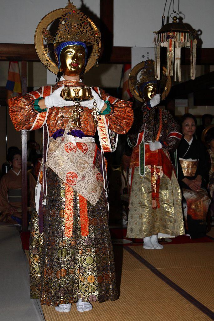 Bosatsu Nerikuyo Parade Sokujo-in temple, Sennyu-ji, Higashiyama area, Kyoto. 京都 泉涌寺即成院二十五菩薩練供養