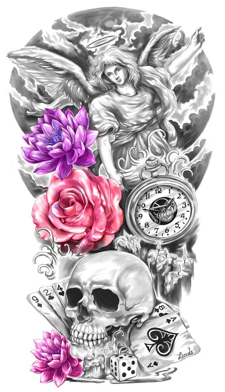 Full Sleeve Tattoo Design by CrisLuspoTattoos.deviantart.com on @DeviantArt