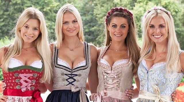 My beautiful models for my new online shop www.dirndl-bh.de *link in bio* @strelnikova.darya @denise_cotte @annathinkpink #dirndlbh by @ichbinmarxphoto