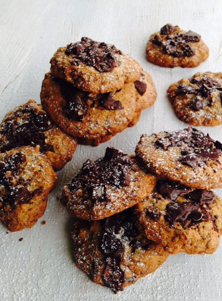 This is my easy, go-to cookie recipe as I usually have all the ingredients in the pantry. You can ring the changes by using chopped nuts, dried apricots, white chocolate, raisins and other spices to flavour the dough.