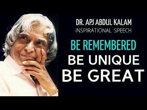 Be Unique - Apj Abdul Kalam Motivational Video