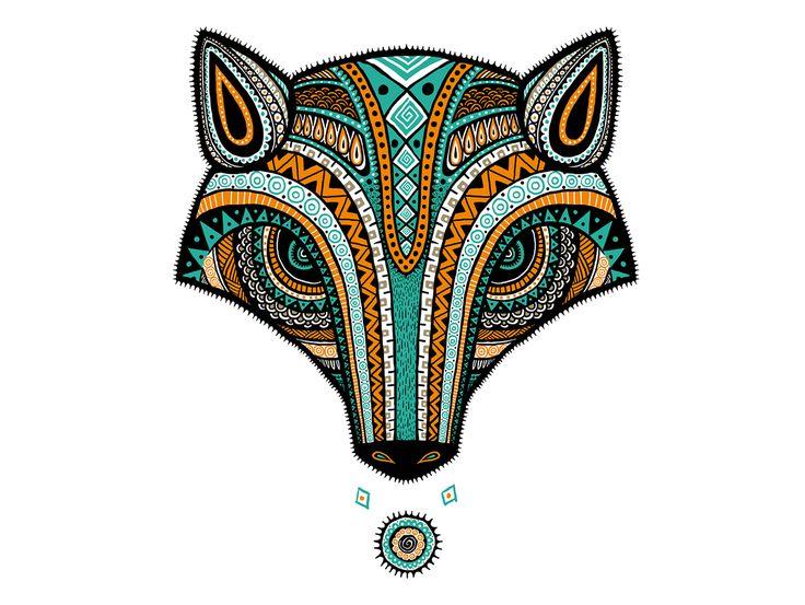 Diseño de zorro para playeras MOLKA