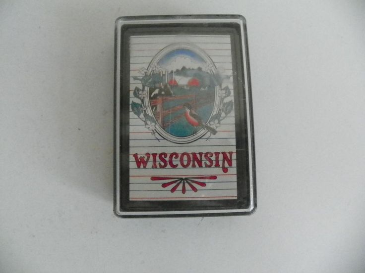 NEW SEALED DECK OF SOUVENIR WISCONSIN PLAYING CARDS IN A PLASTIC CASE #WisconsinSouvenir
