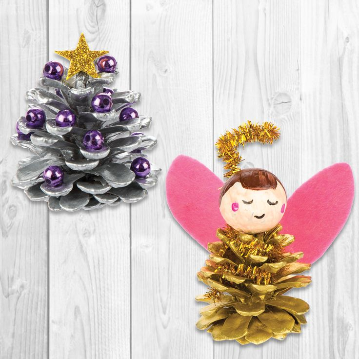 32 best pinecone crafts images on pinterest pine cones for Pine cone christmas ornaments for kids
