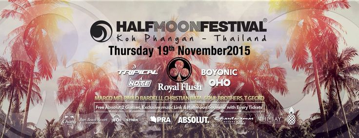 Super excited to play at my first HALFMOON PARTY (G FLoor) in KOH PHANGAN , Thailand • Thursday 19 November 2015 !! Get involved !!