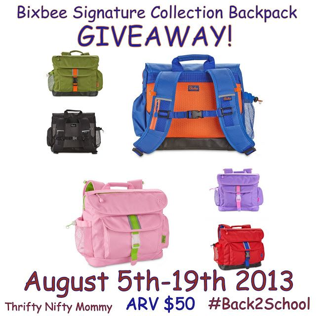 Thrifty Nifty Mommy: Bixbee Signature Collection Backpack {Giveaway} #Off2School  These back packs will make your kids the envy of their classmates!!!!  Enter to win one for your child!!!!