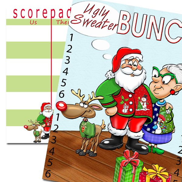Christmas Bunco Party Ideas Part - 44: Bunco Products - Bunko Products - Bunco Scorecards, Etc.