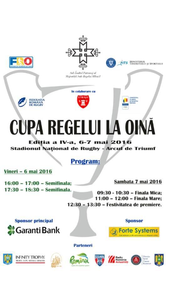 Cupa Regelui la Oină, București, 6-7 mai 2016