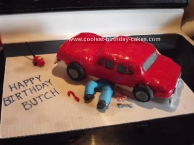 Homemade Auto Mechanic Birthday Cake: My son is an auto mechanic and just recently landed his own repair shop. For his birthday I made this dual purpose Auto Mechanic Birthday Cake for him.