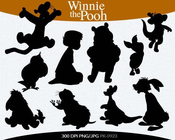 Winnie The Pooh Instant Download Silhouette By