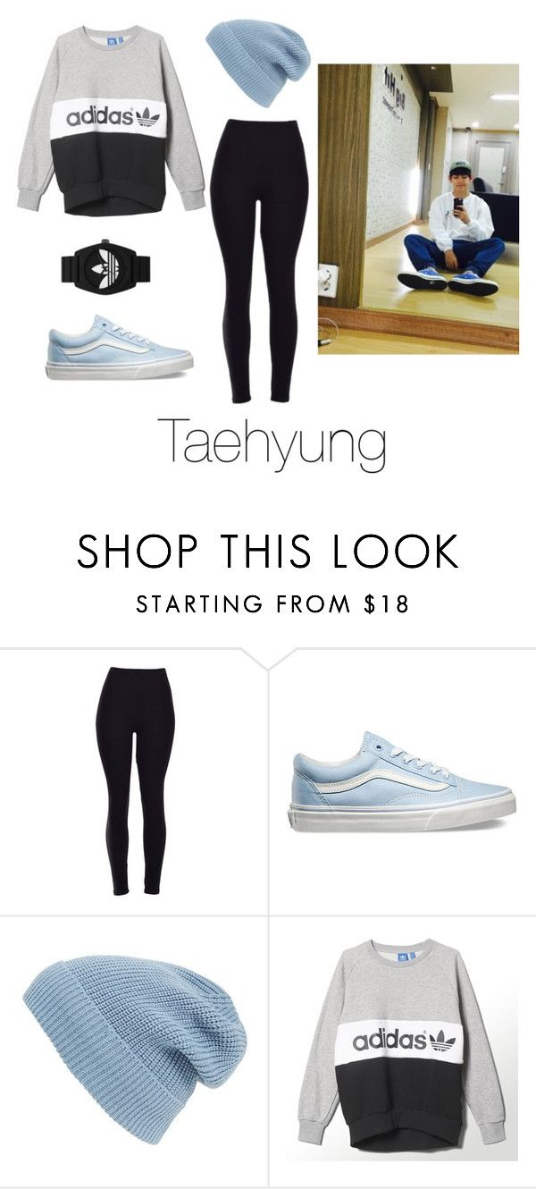 """""""Dance Practice with Taehyung"""" by btsoutfits ❤ liked on Polyvore featuring Vans, Phase 3, adidas and adidas Originals"""