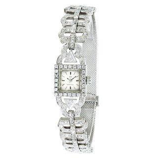(Refurbished) Pre-owned Omega Women's 18k White Gold Vintage Dress 650 Watch