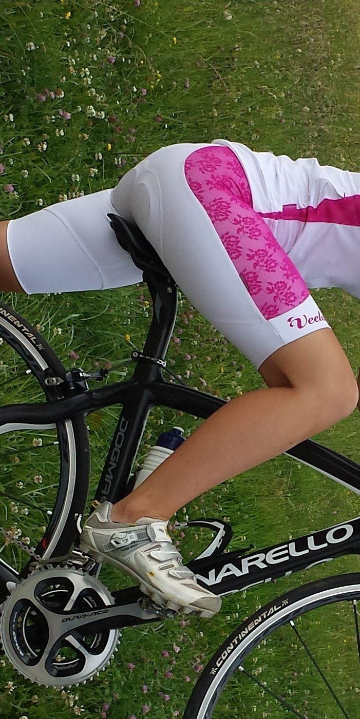 Pantalone bici donna con bretelle