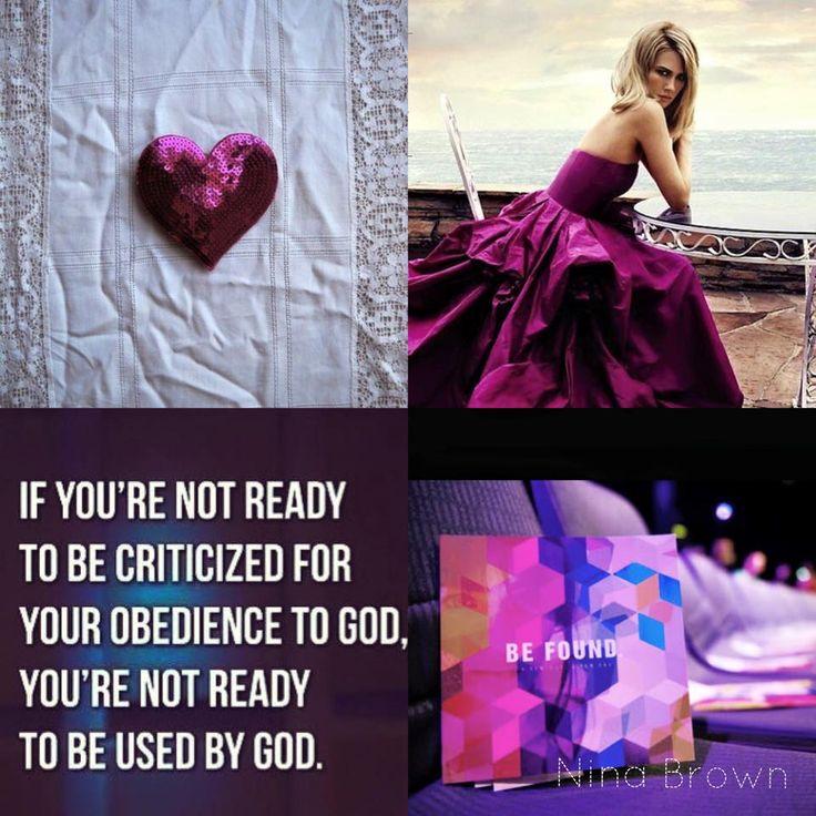 #usedbyGod #obedience #surrender www.facebook.com/... www.ninabrown.co.za