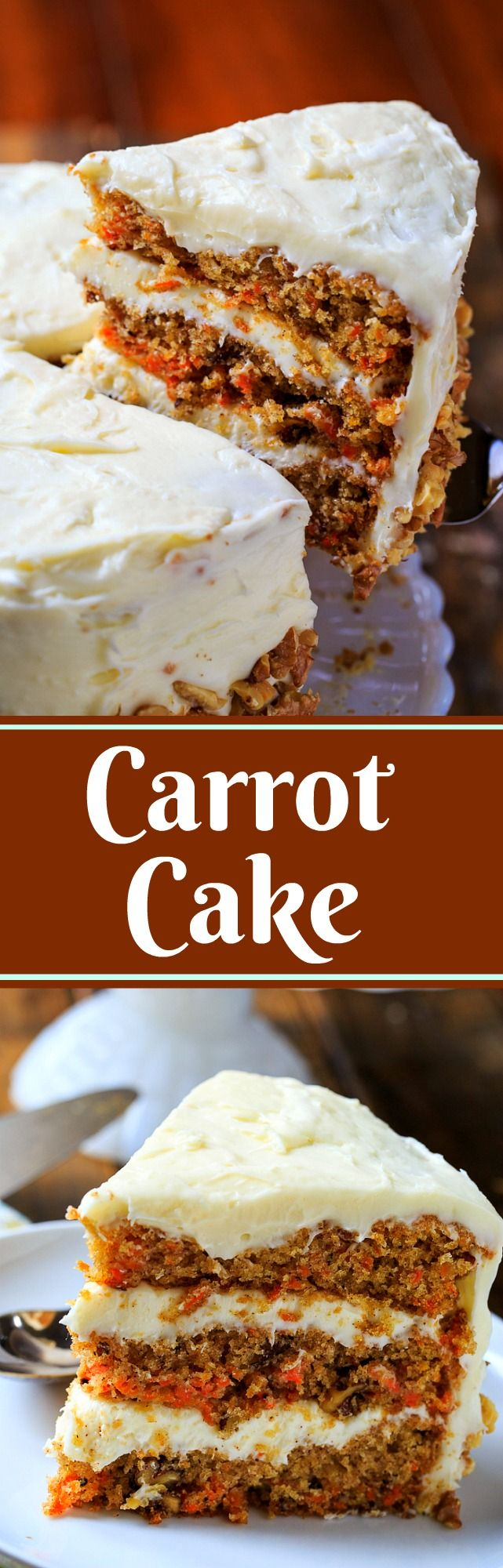 Carrot Layer Cake with toasted walnuts and lots of cream cheese icing.