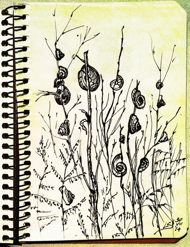 """Summer Sketchbook"" Original graphic art gy Liudmila Suhorucova"