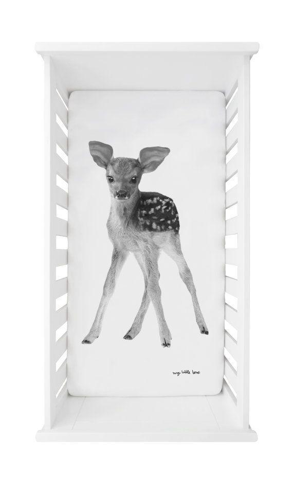 Baby Spannbettlaken Print Love you Deerly Baby von mylittlelooove