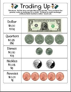 Trade Up money math game