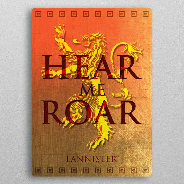 SALES! - Use code: ALLSTAR Buy 3-4 get 15% OFF | 5+ 20% OFF. House Lannister Metal Print Poster  #sales #save #displate #discount #sale #deals #campus #dorm #fraternity #cool #awesome #badass #lannister #sigil #tvshow #geek #houselannister #gameofthronesposter #houselannisterposter #hearmeroar #popular #popart #lannisterposter #homedecor #homegifts #home #poster #wallart #art #design #gifts #giftideas #giftsforhim #giftsforher #onlineshopping #39 #shopping #geekgifts #badass #nerdgifts #lion