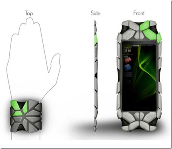 Future technology Phones of future. Change shape