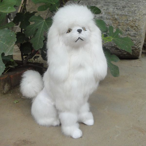 new simulation sitting poodles toy polyethylene & furs handicraft Decoration prop white poodles doll about 33x13x25cm //Price: $US $37.79 & FREE Shipping //     #toys