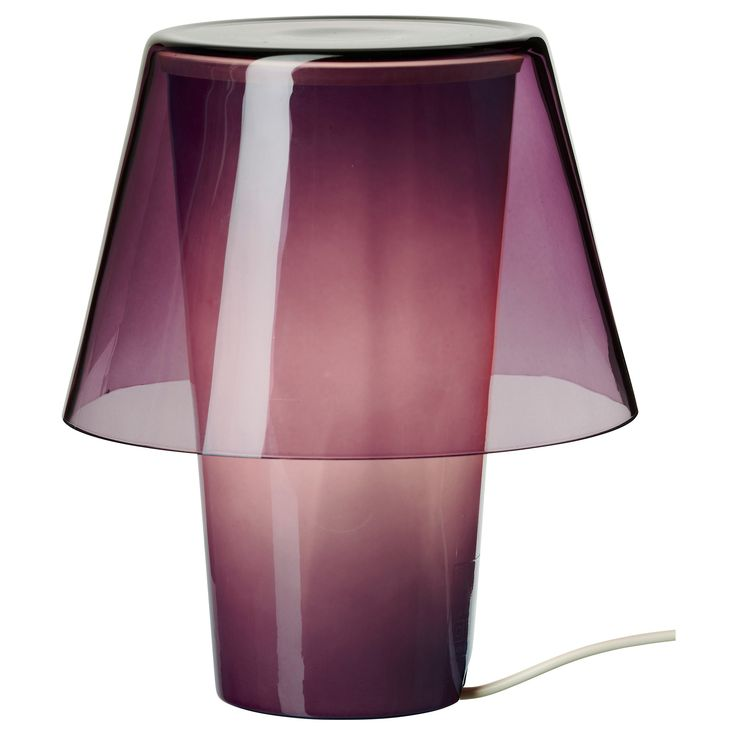 What S Hot On Pinterest Mid Century Table Lamps For Your Loft: Gavik Table Lamp In Purple/frosted Glass By Ikea