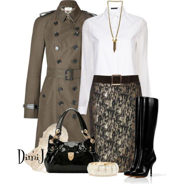 STEFFEN SCHRAUT Brocade Skirt, created by dimij on Polyvore