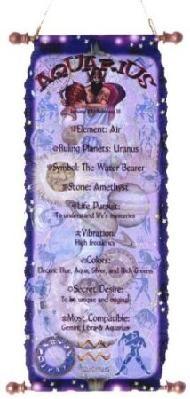 Aquarius Zodiac Tapestry January 20 - February 18 Horoscope
