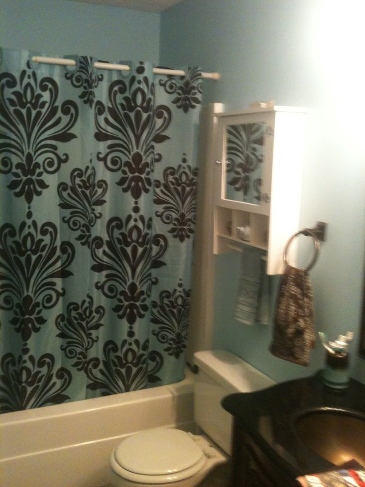 29 best our master bath images on pinterest bathrooms for Blue and brown bathroom designs