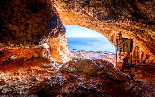 The Cave of St Joseph, Kapsa Monastery, Kalo Nero, Crete, Greece