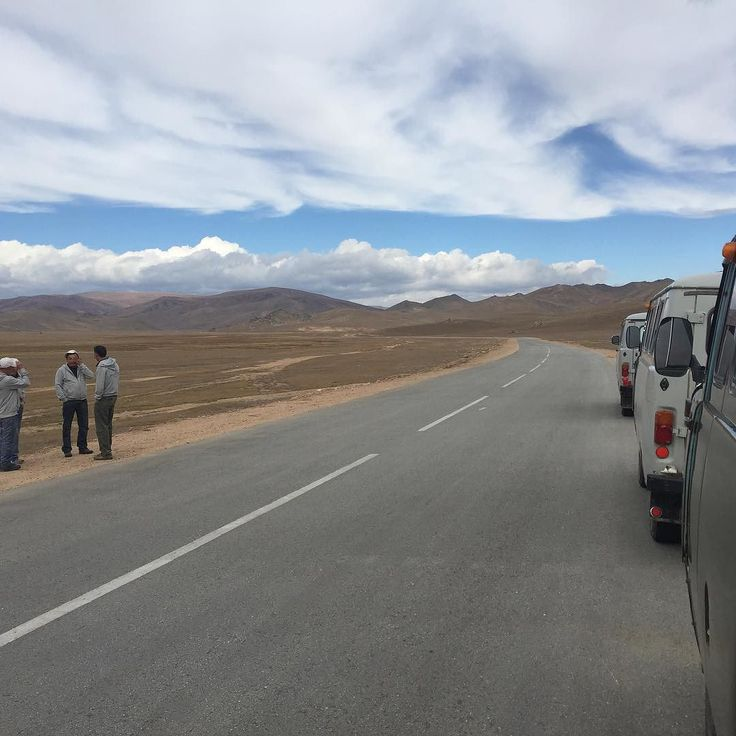 Follow me on Instagram http://ift.tt/2d2yNJr Big sky on the road in #mongolia  #remotelocations #photoadventure