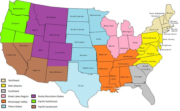 U S Air Quality Use Of Standardized United States Geographic Regions On The Smog Blog Geographical Pinterest