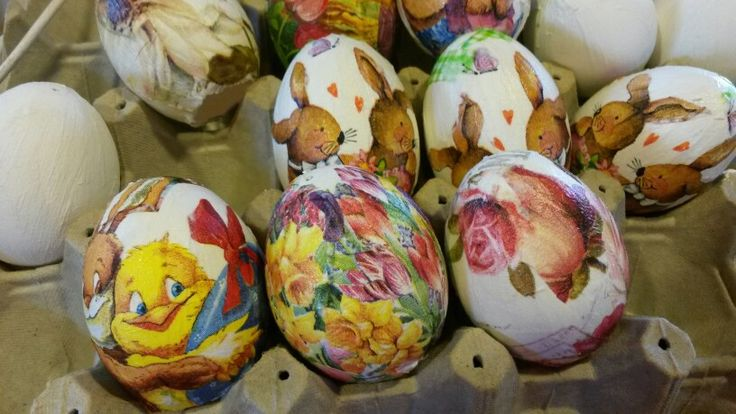 Huevos en decoupage